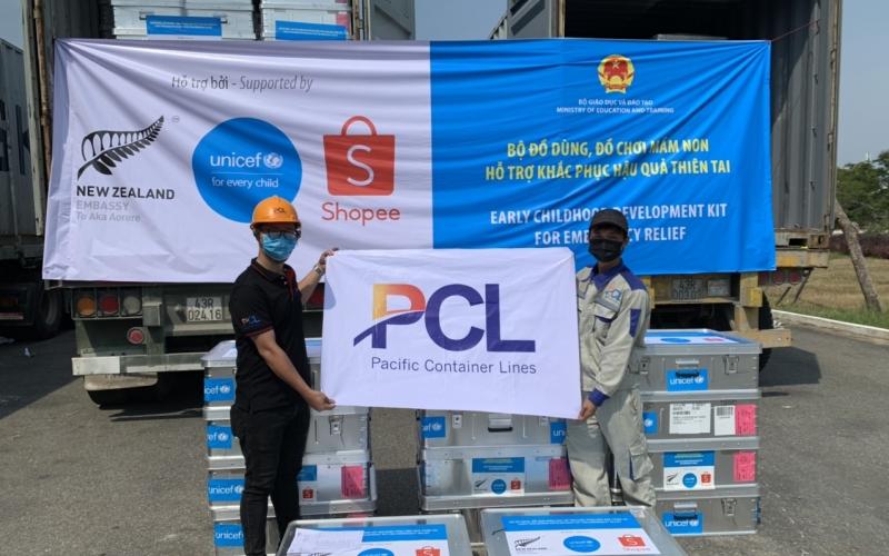 Pacific Container Lines chuyên chở hàng của UNICEF